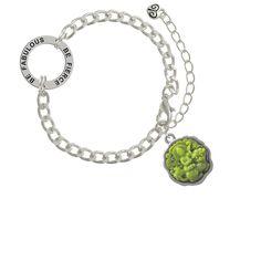 Silvertone Spinner Custom Engraved Affirmation Ring Necklace Hot Pink Giraffe Print