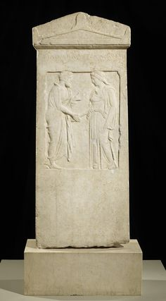 . Grave Stele |  Artist Unknown (Greek) (Greece, Europe), 5th century B.C.