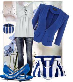 """Blue Jay"" by jsandoval ❤ liked on Polyvore"