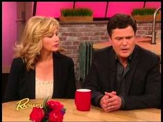 Donny Osmond on The Rachael Ray Show This is a great clip. First Donny's wife comes out ... she's sweet and still so lovely. Then there's a special surprise for one of Donny's biggest fans, brought about by Rachael Ray, Donny Osmond and her childhood friend. It's awesome.