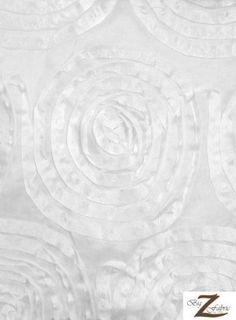 "SPIRAL ROSETTE TAFFETA FABRIC - WHITE - 60"" WIDTH - SOLD BTY Big Z Fabric http://www.amazon.com/dp/B00DV36BW4/ref=cm_sw_r_pi_dp_uSITub1C5KRBY"