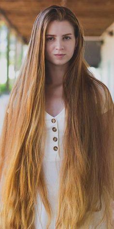 Long Indian Hair, Long Red Hair, Really Long Hair, Super Long Hair, Beautiful Long Hair, Gorgeous Hair, Long Hair Drawing, Long Face Hairstyles, Silky Hair