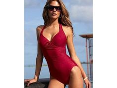 $18 for a Sexy Deep V One-Piece Swimsuit - Shipping Included.  Kierstie this might work.