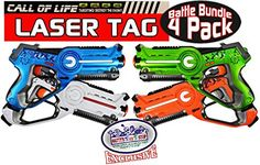 Mattys Toy Stop Call of Life Laser Tag Blasters for Kids Red Green Blue  White Gift Set Battle Bundle  4 Pack ** Click image to review more details. Note:It is Affiliate Link to Amazon. #swag
