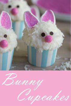 Looking for Easy Easter Bunny cupcake ideas for kids? These Easter Bunny Cupcakes are really easy to make and taste so delicious Easter Snacks, Easter Treats, Easter Party, Easter Recipes, Desserts For Easter, Easter Deserts, Bunny Party, Easter Food, Easter Bunny Cupcakes