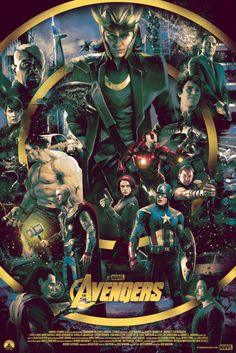 thepostermovement:The Avengers by Vlad Rodriguez