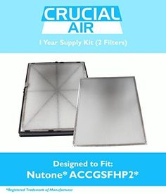 Broan Nutone 1 Year Supply Filter Kit Includes 2 Pre Filters & 1 HEPA Filter Fits GSFH1K Guardian Plus, Compare to Part # ACCGSFHP2, Designed & Engineered by Crucial Air, Model: , Hardware Store. Braon Nutone 1 year supply filter kit. This kit includes 2 pre filters & 1 HEPA filter. Compare to part # ACCGSFHP2. Fits the following Broan Models: HF 1.0, HF 2.0, HF 3.0, HF 3.1, HR 2.5 & HR 2.6. Designed & Engineered by Crucial Air.