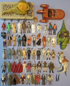My collection of vintage Star Wars action figures that I sold on eBay