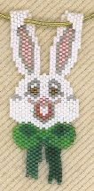 Easter Bunny Necklace Pattern by Linda Farber AKA The Jewelry Box at Bead-Patterns.com
