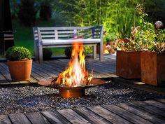 Amazing garden fireplace