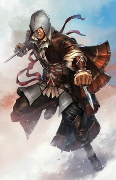 Ezio Auditore - Assassin's Creed by Mike S. Connor Kenway, Assassins Creed 2, Manga Illustration, Character Illustration, Fantasy Characters, Rogues, Clipart, Game Art, Comic Art