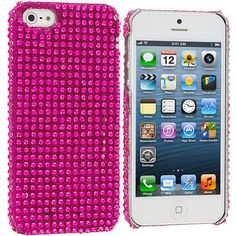 Hot Pink Bling Rhinestone Case Cover for Apple iPhone 5 / 5S