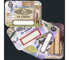 Collaged Book Labels – Set 1, $7.92