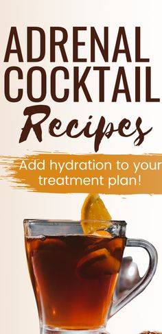 Experiencing signs of adrenal fatigue? One of the quickest and easiest ways to start feeling better is to add adrenal tonics or cocktails to your daily routine and treatment plan. These drinks will help restore and balance important minerals that are often low or not in the proper ratio when you have adrenal fatigue. Don't forget to grab your free printable recipes! #adrenalfatiguetreatment #adrenalfatiguenaturalremedies #adrenalfatigue Fatigue Surrénale, Signs Of Adrenal Fatigue, Adrenal Fatigue Treatment, Fatigue Symptoms, Healthy Drinks, Get Healthy, Healthy Mind, Clear Arteries, Adrenal Cocktail