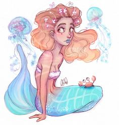CANCER: near translucent skin and tail. Are able to melt into their background and appear to be invisible. The most successful hunter. #mermaidzodiacs