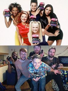 Group Of Guys Recreate Spice Girls Photo Shoots | can they all just be my friend. This is awesome.