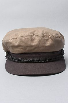 The Fiddler Hat in Khaki & Charcoal Canvas