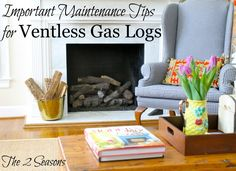 This post is loaded with important info you need to know and do if you own ventless gas logs.  It could save you a bunch of money. - The 2 Seasons