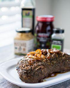 Mustard Balsamic Tri-Tip Slow Cooker Recipes, Gluten Free Recipes, Beef Recipes, Cooking Recipes, Balsamic Beef, Balsamic Vinegar, Best Tri Tip Marinade, Olive Oil