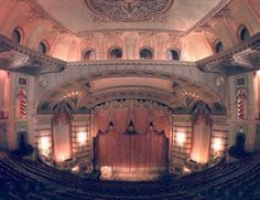 "Inside The ""old"" Historic Paramount Theater in Cedar Rapids, IA. So excited to see it!! :)"