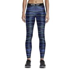 74144bc016931 Fitness Workout Sports Leggings Print Yoga Pants Quick Dry Women'S  Tracksuit Sports Trousers