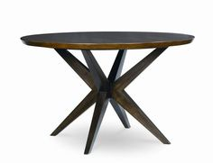 Kateri Contemporary Hazelnut Round Pedestal Table