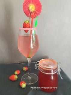 Sirop de fraises fait maison recette facile au companion thermomix ou autres robots