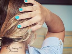 I am mine.   tattoo idea that's been stuck in my mind lately...