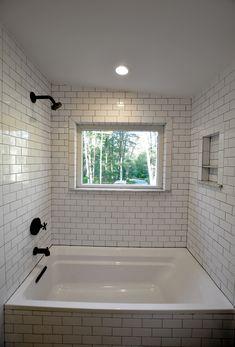 Farmhouse 31 Bathroom Features Modern Subway Tiles