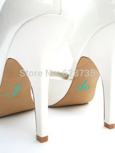 2 pieces/lot Something Blue I Do & Me Too Vinyl Shoe Decal - Wedding Shoe Decal - Bridal Shoe Accessories ,free shipping L2059