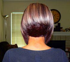 Got my hairs did today Angled Bob Haircuts, Stacked Haircuts, Graduated Bob Hairstyles, Short Bob Hairstyles, Medium Hair Styles, Short Hair Styles, Beautiful Haircuts, Hair Color And Cut, Layered Hair
