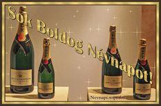 Névnapi pezsgők, névnapi képeslap