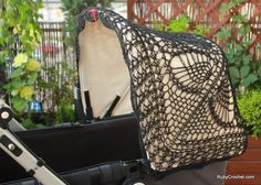 Crochet canopy cover for Bugaboo strollers. $34.00, via Etsy. soooo cute and i want it!