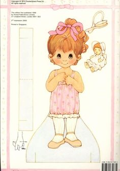Puddin Paper Doll (doll 1) - Reproduction edition by Award Publications Limited, 2000: Back Cover [page 1(of 8)]