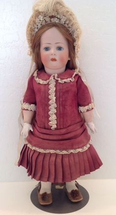 "Kley & Hahn 19"" Antique Doll K & H Germany 169-9 costume by Hazel Ulseth"