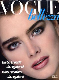 Brooke Shields by Bill King for the December 1983 cover of Italian Vogue.