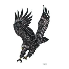 Temporary Eagle Tattoo Transfer Body Art Sticker Waterproof