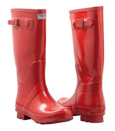 Women's Rain Boots, Rubber - Mid-Calf - Lined, Hunting Style (Red) -                     Price:              View Available Sizes & Colors (Prices May Vary)        Buy It Now      Choose a pair of our chic and classy rubber boots to wear on a rainy day, or keep your feet tidy in your garden's muck and soil! These durable, easily washed boots will see...
