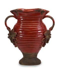 Pizzazz! Home Decor: Unique Home Decor - Tuscan Rustic Red Grape Handled Vase, $127.75 (http://pizzazzhomedecor.com/az-home-decor/tuscan-rustic-red-grape-handled-vase/)
