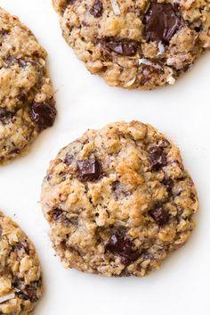 Oatmeal+Coconut+Almond+Chocolate+Chunk+Cookies