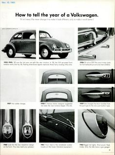 Volkswagen ad - How To Tell The Year...