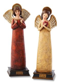 Rejoice 2 Piece Angel on Base Figure Set