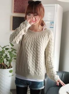 ound Collar Long Sleeve Pullover,  Sweater, YL121110AR, Chic