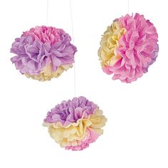 Easter+Tissue+Paper+Pom-Pom+Decorations+with+Grommet+-+OrientalTrading.com