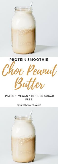 For all you chocoholics out there! This chocolate peanut butter protein smoothie is a must-try! It's every bit chocolaty, delicious and smooth.