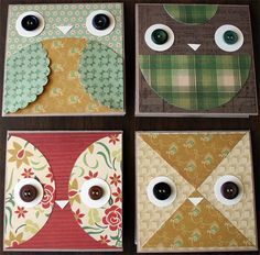 To the owl lovers and card makers!  @Nicole Novembrino Nero @Kelly Teske Goldsworthy Vandercar Burkeen  @ALittleScrappy Owl Cards | Julie Comstock for Cosmo Cricket