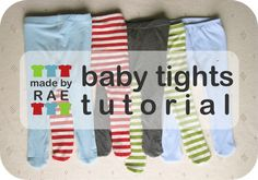 Tutorial: Make baby tights. I love this - baby tights from old t-shirts Sewing Projects For Kids, Sewing For Kids, Baby Sewing, Sew Baby, Diy Projects, Sewing Hacks, Sewing Tutorials, Sewing Patterns, Sewing Ideas