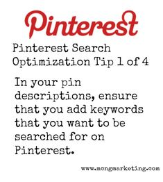 4 Pinterest Tips to Make Your Pins More Searchable on Pinterest - MCNG Marketing