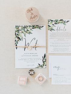 Rustic spring olive leaf wedding invitation with twine, spring wedding ideas, country weddings Wedding Invitation Trends, Spring Wedding Invitations, Creative Wedding Invitations, Wedding Invitation Inspiration, Rustic Invitations, Wedding Invitation Wording, Wedding Stationary, Formal Invitations, Invitation Suite