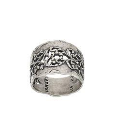 Look at this #zulilyfind! Sterling Silver Hammered Filigree Ring #zulilyfinds